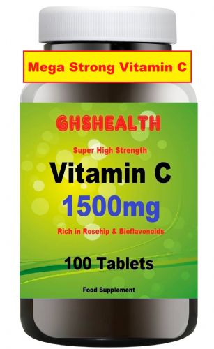Vitamin C 1500mg 100 tablets (Super Strength) Special Offer Rsp £12.99